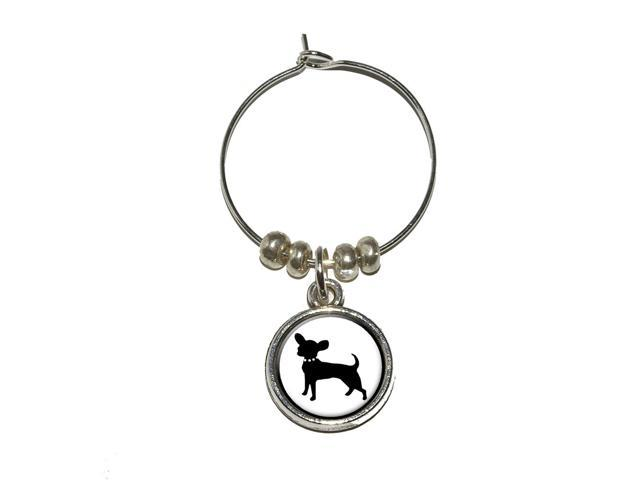 Chihuahua Wine Glass Charm Drink Stem Marker Ring - OEM