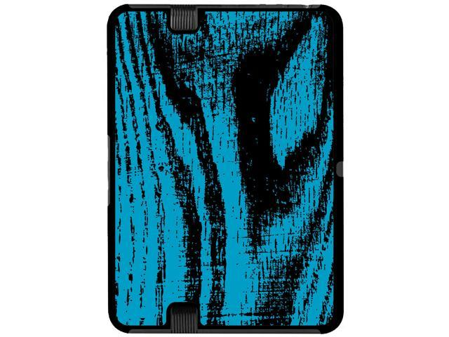 Wood Grain Blue - Snap On Hard Protective Case for Amazon Kindle Fire HD 7in Tablet - OEM