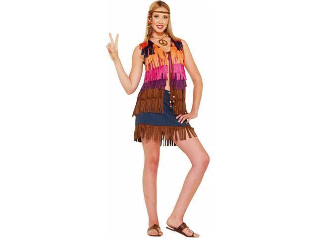 Hippie Fringed Vest Costume