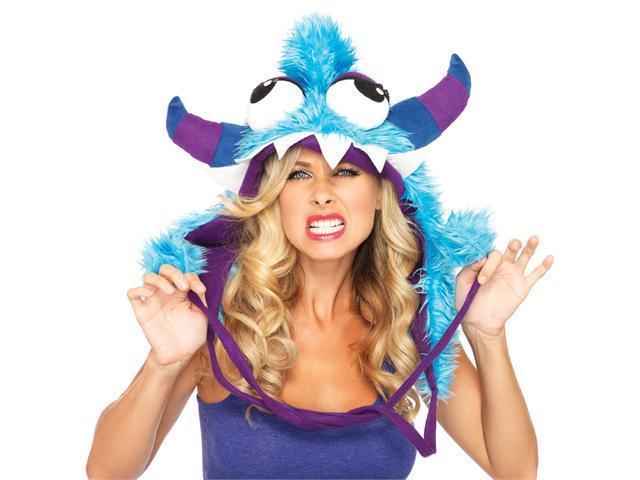 Adult Blue Bert Monster Hood