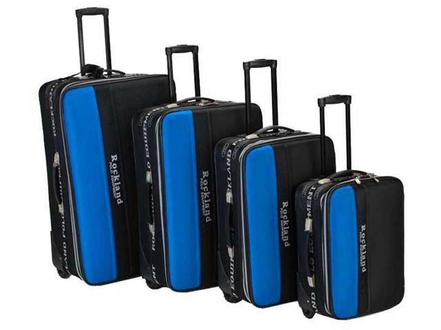 Four Piece Wide Stripe Luggage Set - by Fox Luggage