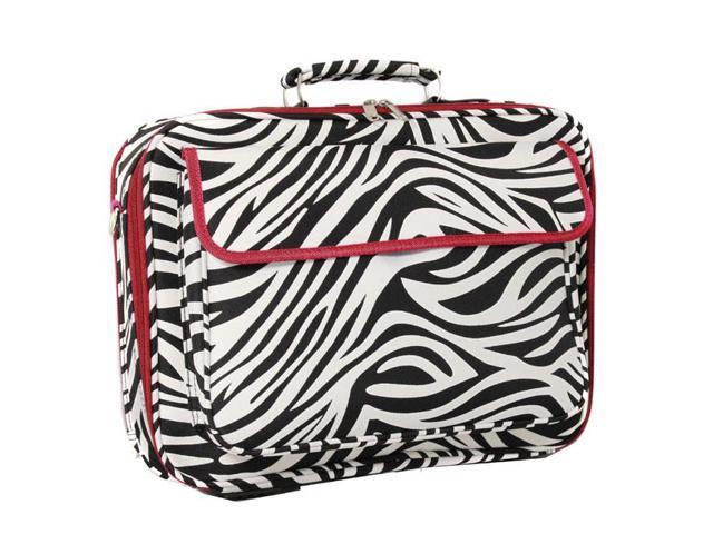 "All-Season 17"" Laptop Computer Case - Red Trim Zebra"
