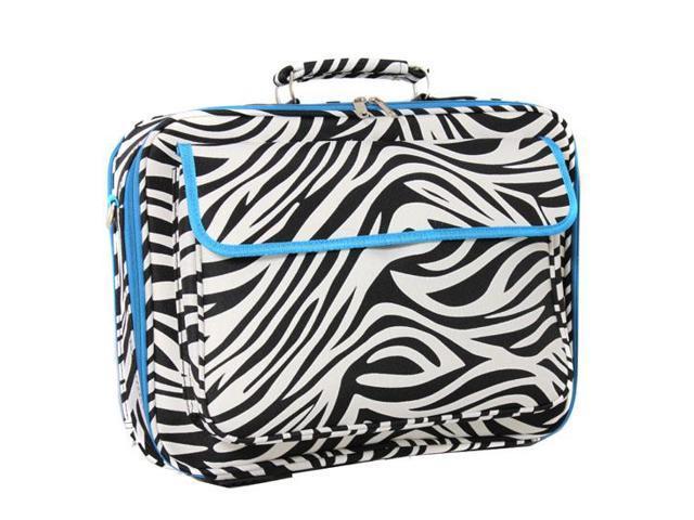 "All-Seasons 17"" Laptop Computer Case - Teal Trim Zebra"