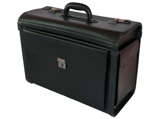 World Traveler Letherette Business Catalog Sample Pilot Case - Black