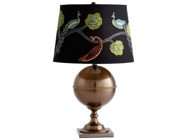 vanderbilt table lamp black embroidered shade with gold lining. Black Bedroom Furniture Sets. Home Design Ideas
