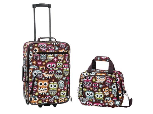 Rockland Rio Upright Carry-On & Tote 2-Piece Luggage Set - Owl