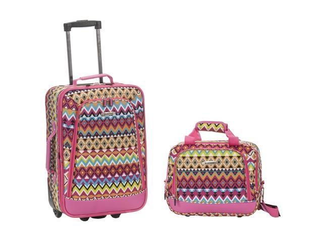 Rockland Rio Upright Carry-On & Tote 2-Piece Luggage Set - Tribal