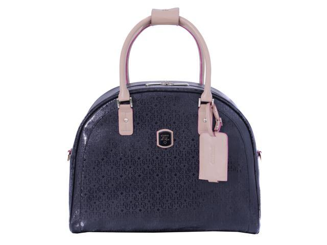 Guess Frosted Travel Dome Tote, Black