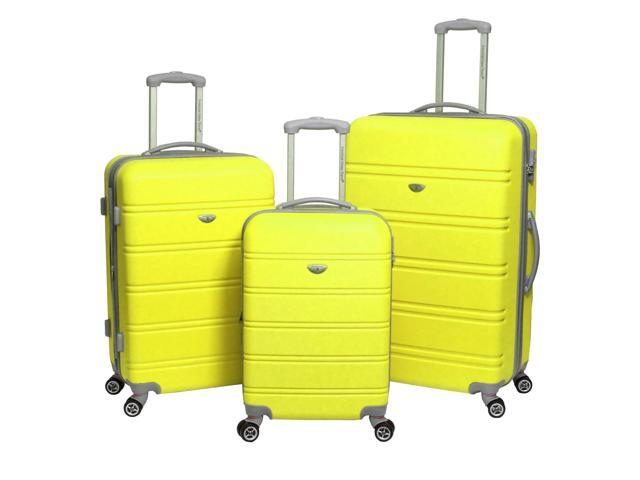 American Green Travel 3-PC Hardside Spinner Luggage Set with TSA Lock - Yellow