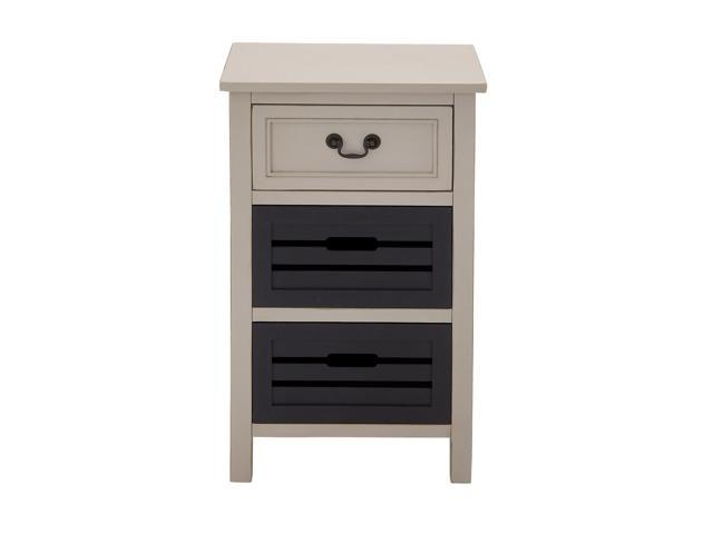 Urban Designs Two-Tone 3-Drawer Storage Chest Night Stand