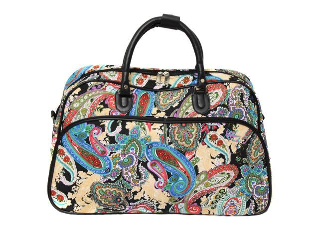 All-Seasons 21-inch Carry-On Shoulder Tote Duffel Bag - Paisley