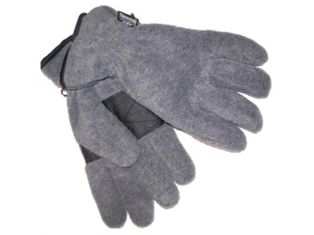 Athletic Works Mens Gray Fleece Snow Gloves OSFM
