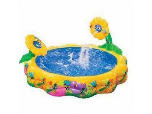 Flower Power Kids Inflatable Swimming Pool Sprinkling
