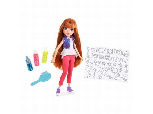Moxie Girls Glitterin Style Kellan Doll Set Glitter & Stickers Set