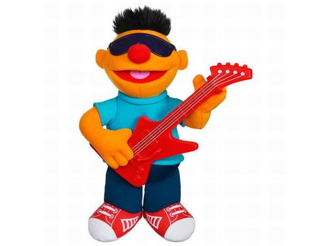 Playskool Sesame Street Strummin Ernie Plush Stuffed Animal Sings & Plays