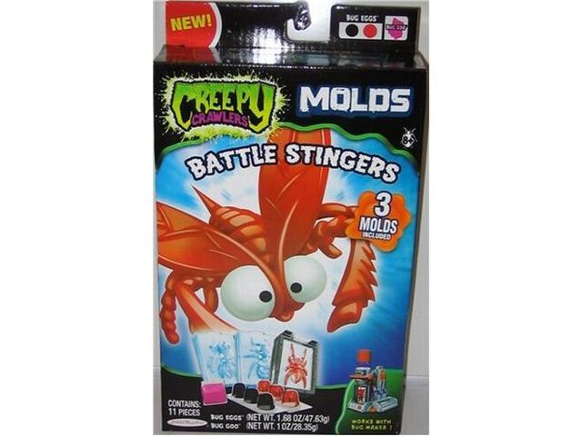 Creepy Crawlers Battle Stingers Molds 11 Piece Set with Bug Eggs Goo Create Cool