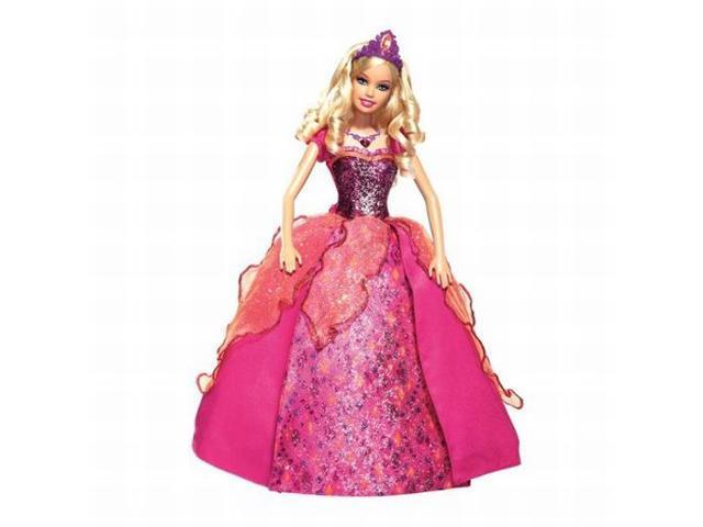 Mattel Diamond Castle Barbie Doll 4 in 1 Dress Sings Lights Up