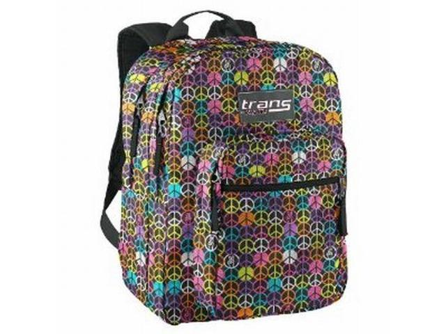 Jansport Trans Supermax Rainbow Peace Sign Backpack Sport ...