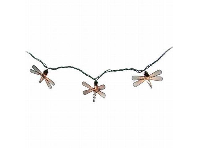 Metal Dragonfly String Lights : Home Metal Dragonfly String Light Set In or Out Patio Lights Brown - Newegg.com