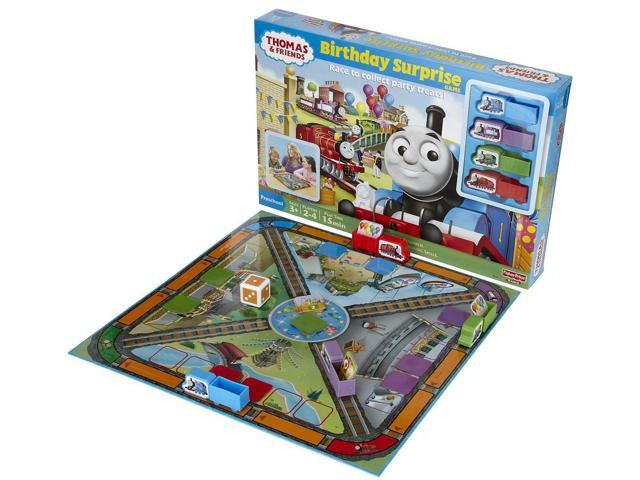 Fisher Price Thomas Birthday Surprise Game Race to Collect Party Treats Train