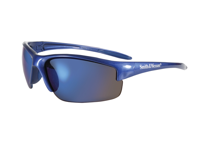 Smith & Wesson Equalizer Safety Eyewear,Blue Frame Blue Lens