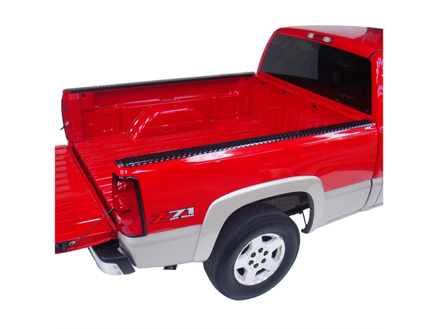 21990B Dee Zee Black Aluminum Bed Rail Caps Ford Super Duty 8' 1999-2013