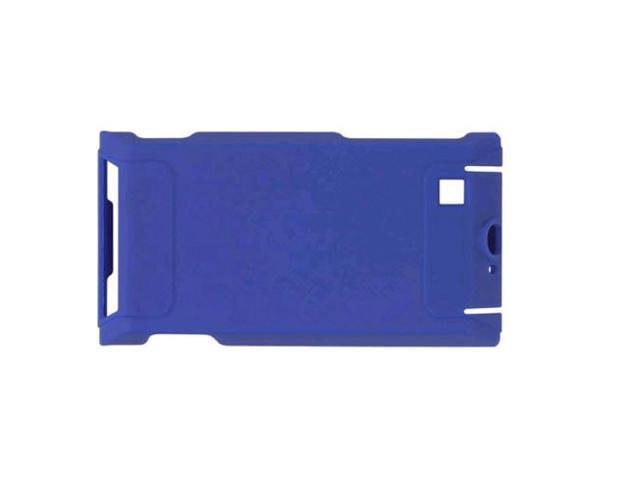 Wireless Solutions Rubberized Snap-On Case for Motorola Devour A555 - Cobalt Blue