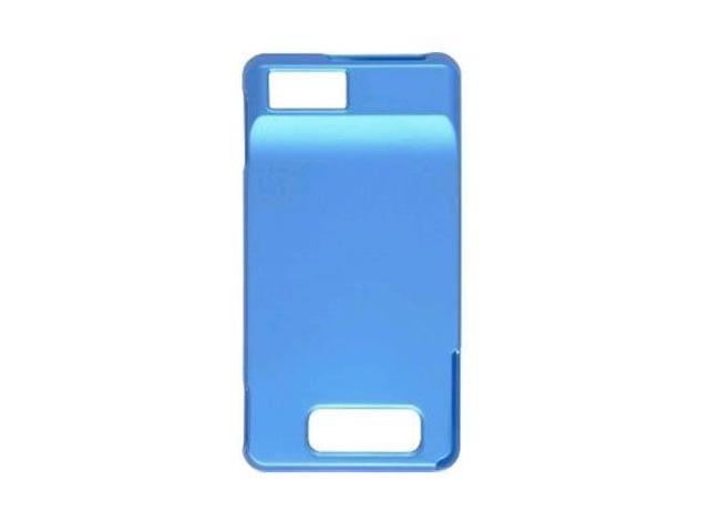 Soft Touch Snap-On Case for Motorola Droid X MB810, Milestone X MB809 - Turquoise Blue