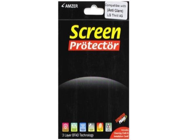 Amzer Anti-Glare Screen Protector with Cleaning Cloth For LG Thrill 4G,LG Optimus 3D P920