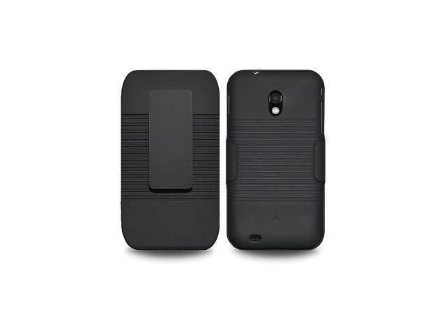 Amzer ShellsterProtector Case for Samsung Epic 4G Touch SPH-D710,Samsung Galaxy S II SCH-R760 - AMZ93319 Black