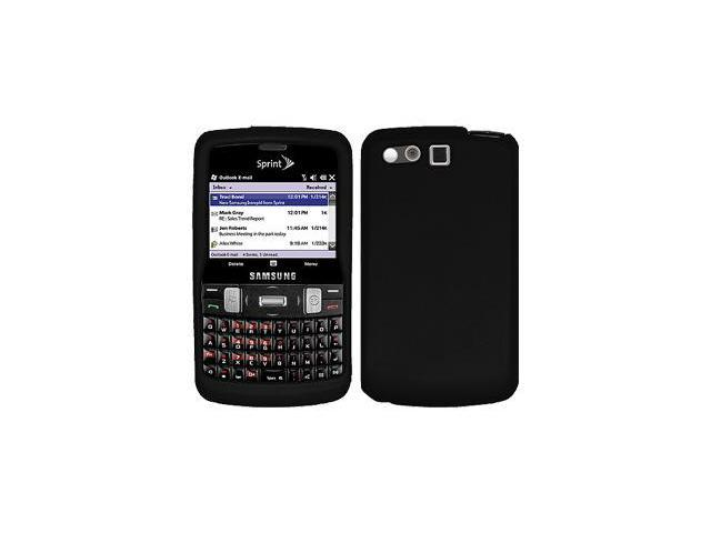 Amzer Silicone Skin Jelly Case - Black For Samsung Intrepid i350