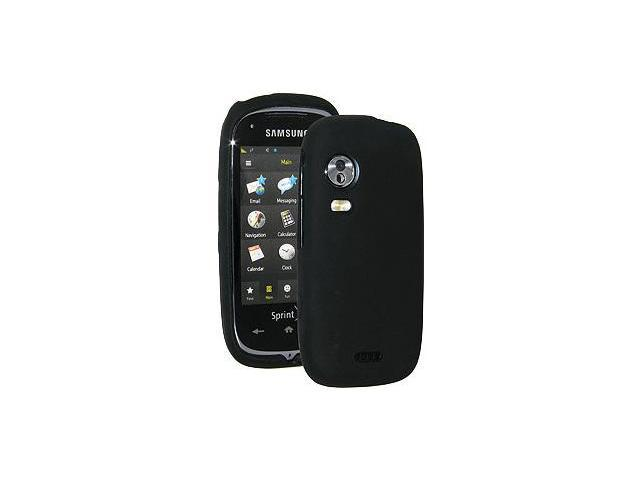 Amzer Silicone Skin Jelly Case - Black For Samsung Instinct HD SPH-M850