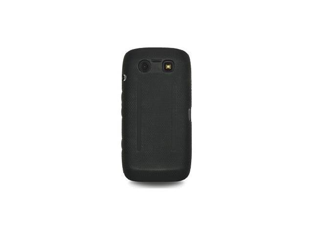 Amzer Silicone-PolyCarbonate Hybrid Case - Black For BlackBerry Torch 9850,BlackBerry Torch 9860