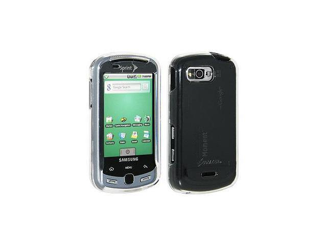 Amzer Clear Snap on Crystal Hard Case For Samsung Moment M900