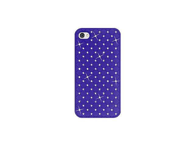 Amzer Diamond Lattice Snap On Shell Case - Dark Blue