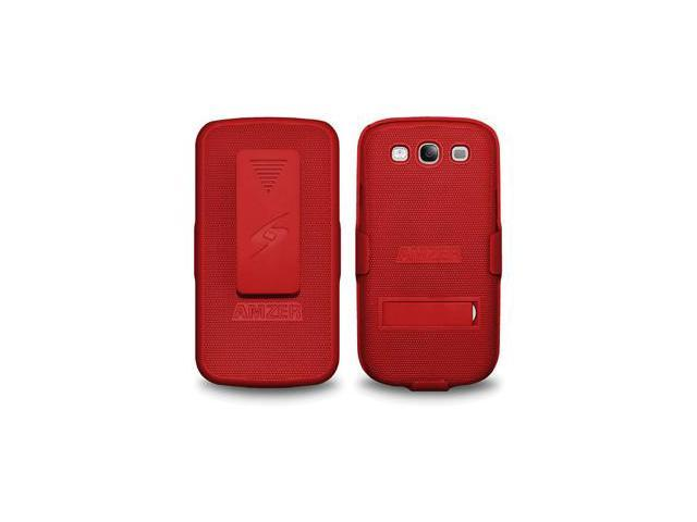 Amzer Shellster with Kickstand - Dark Red For Samsung GALAXY S III GT-I9300