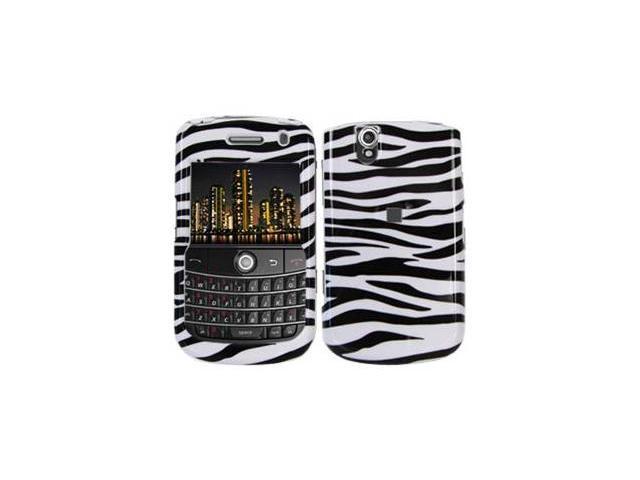Amzer Zebra Print Snap On Crystal Hard Case For Blackberry Tour 9630,BlackBerry Bold 9650