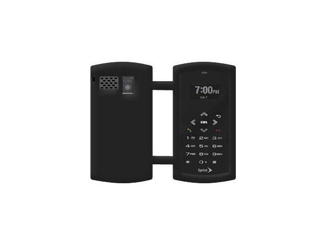 Amzer Silicone Skin Jelly Case - Black For Sanyo Incognito SCP-6760