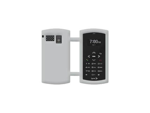 Amzer Silicone Skin Jelly Case - Grey For Sanyo Incognito SCP-6760