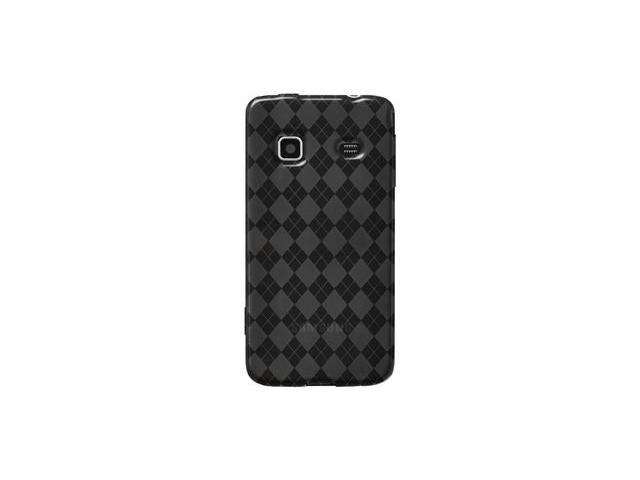 Amzer Luxe Argyle High Gloss TPU Soft Gel Skin Case - Smoke Grey For Samsung Galaxy Prevail