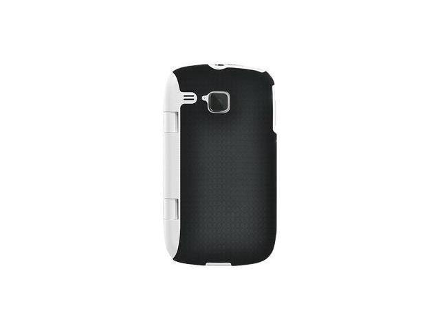 Amzer Injecto Snap On Hard Case - Black/ White For Samsung DoubleTime