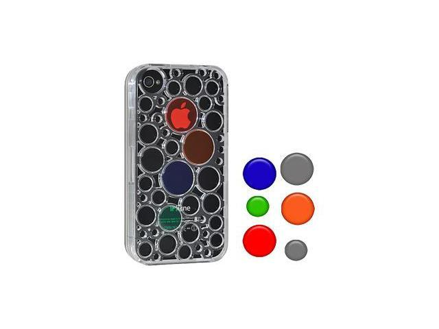 Amzer Injecto Snap On Hard Case with Dots - Clear