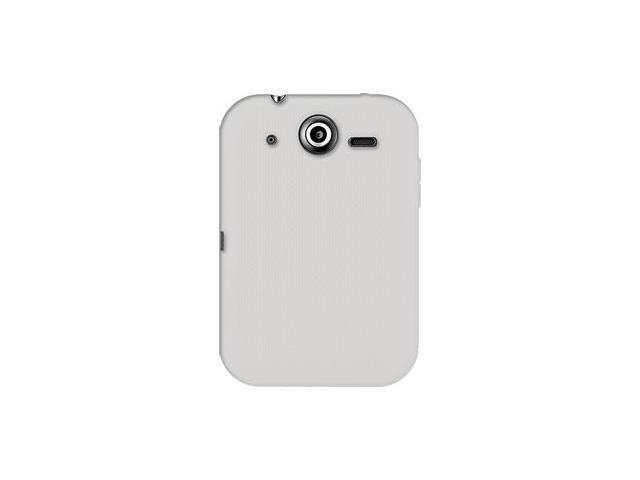 Amzer Silicone Skin Jelly Case - Transparent White For Pantech Pocket