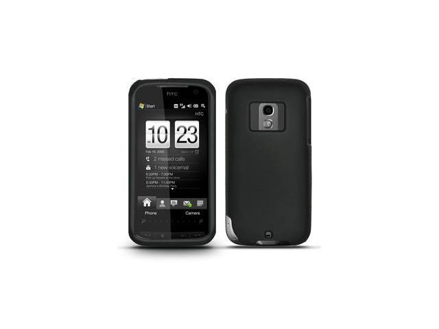 Amzer Rubberized Black Snap On Crystal Hard Case For Verizon HTC Touch Pro 2