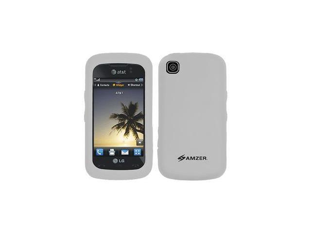 Amzer Silicone Skin Jelly Case - Transparent White For LG Encore GT550
