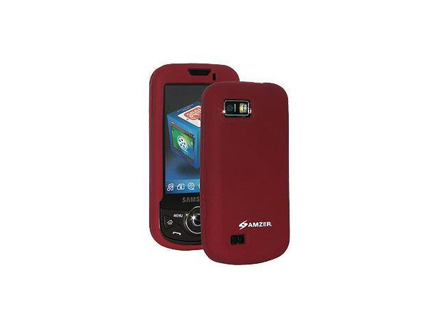 Amzer Silicone Skin Jelly Case - Maroon Red For Samsung Behold II T939