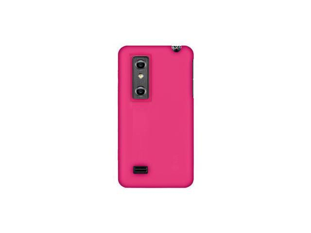 Amzer Silicone Skin Jelly Case - Hot Pink For LG Thrill 4G,LG Optimus 3D P920