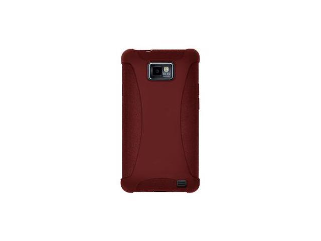 Amzer Silicone Skin Jelly Case - Maroon Red For Samsung GALAXY S II GT-I9100