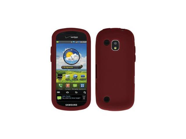 Amzer Silicone Skin Jelly Case - Maroon Red For Samsung Continuum SCH-I400