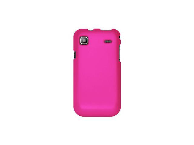 Amzer Rubberized Hot Pink Snap On Crystal Hard Case For Samsung Galaxy S I9000